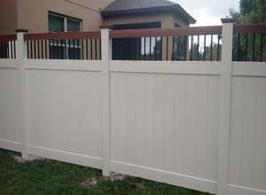 Custom Vinyl Privacy Fence